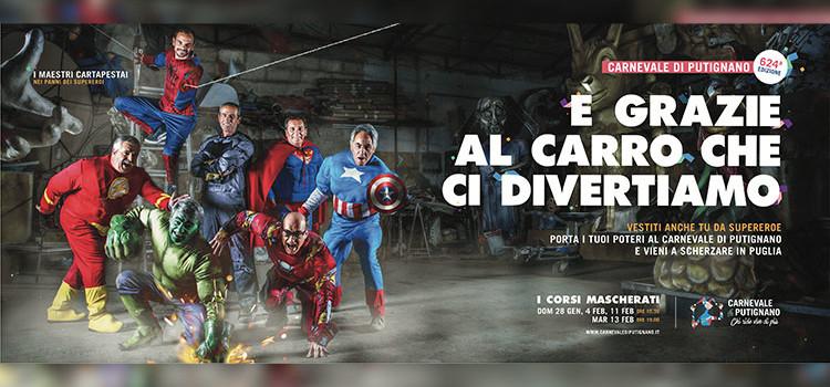 Carnevale di Putignano 2018: 'Gli Eroi' è il tema della 624° edizione