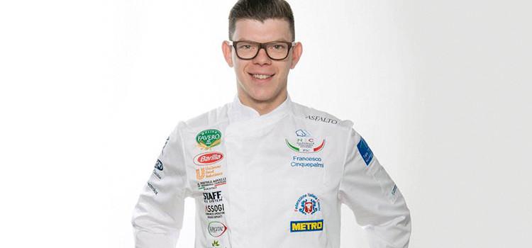 """Francesco Cinquepalmi rappresenterà l'Italia al """"Global Chefs Challenge"""""""