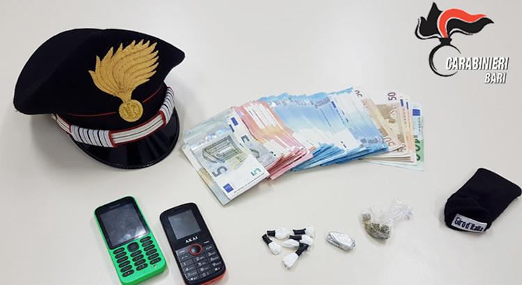 Droga: arrestato pusher a San Pietro Piturno con cocaina e 2mila euro