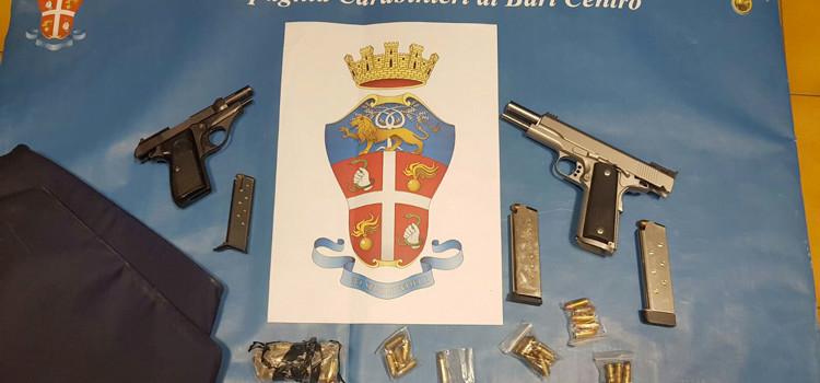 Interrotto summit criminale a Japigia: sequestrate due pistole e un giubotto antiproiettile