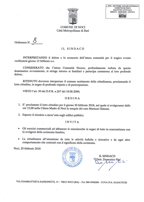 noci-comune-ordinanza-lutto-cittadino