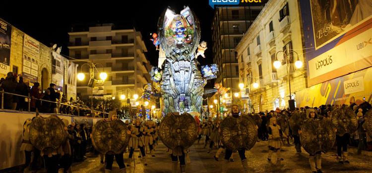 """624^ Edizione del Carnevale di Putignano: vince Deni Bianco con """"2018 Odissea nello Strazio"""""""