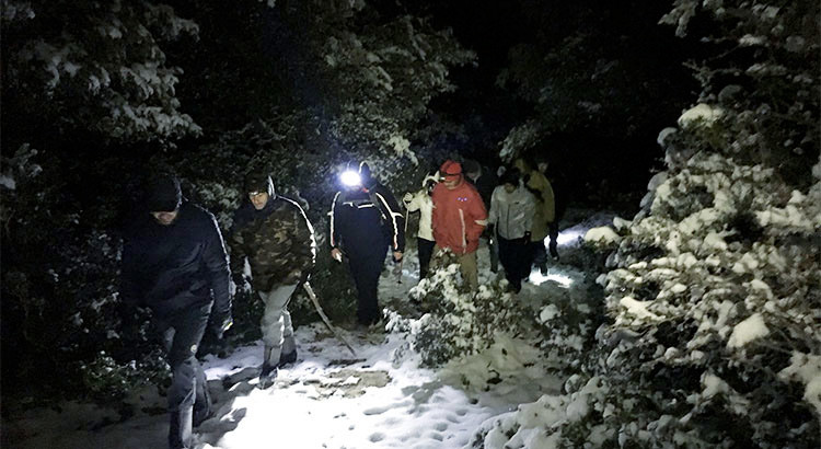 Barsento by night: snow trekking nell'oasi medievale