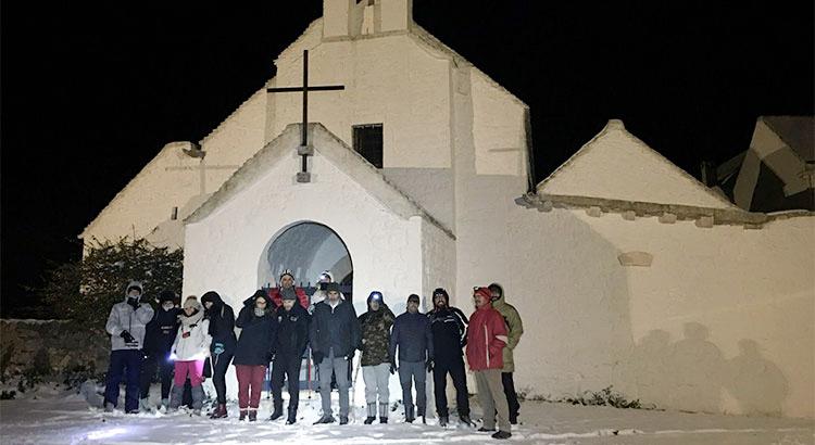 Snowtrekking-Barsento-chiesa