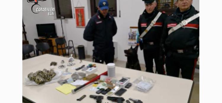 Controlli a S Pietro Piturno: arrestati 3 pusher, sequestrate droga e pistole