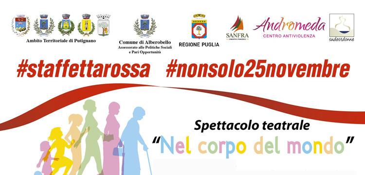 Staffetta Rossa contro la violenza sulle donne, tre appuntamenti ad Alberobello