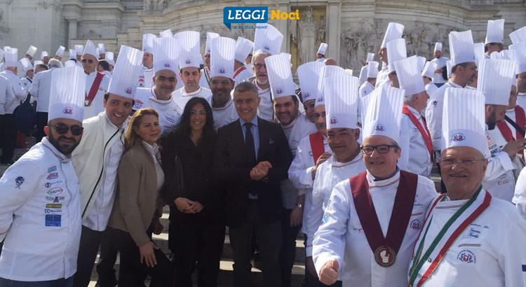 I delegati dell'associazione Cuochi Trulli e Grotte a Roma per i 50anni della FIC