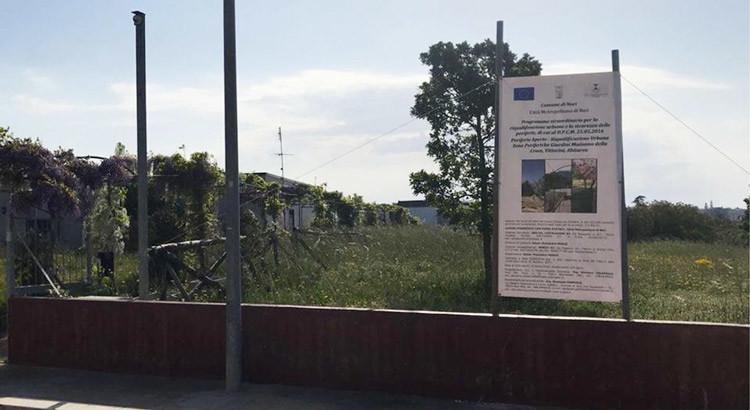 Agorà Sicure: al via la riqualificazione dei i giardini della Madonna della Croce, di via Vittorini e Abitarea