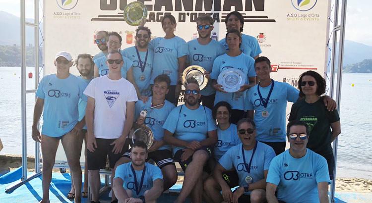 All'Oceanman del Lago d'Orta medaglie di categoria per gli atleti Otrè