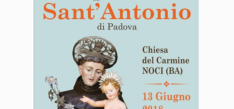 Il calendario dei festeggiamenti religiosi in onore di Sant'Antonio di Padova