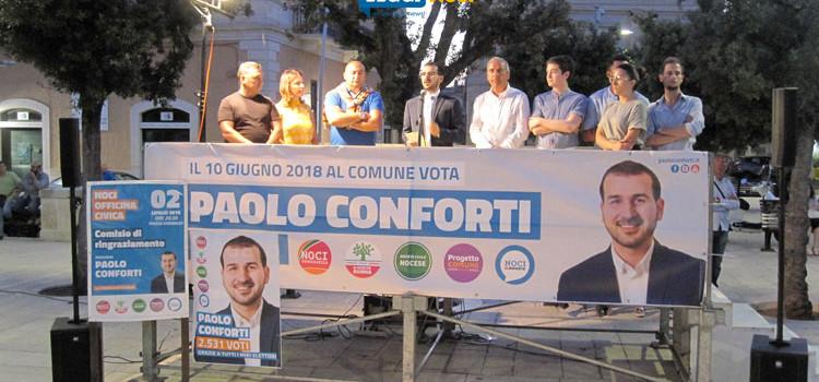 """Noci Officina Civica ringrazia la cittadinanza, Conforti: """"Ora della nostra forza dovranno farsene una ragione"""""""