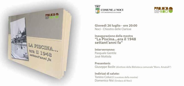 """""""La Piscina… era il 1948, settant'anni fa"""""""