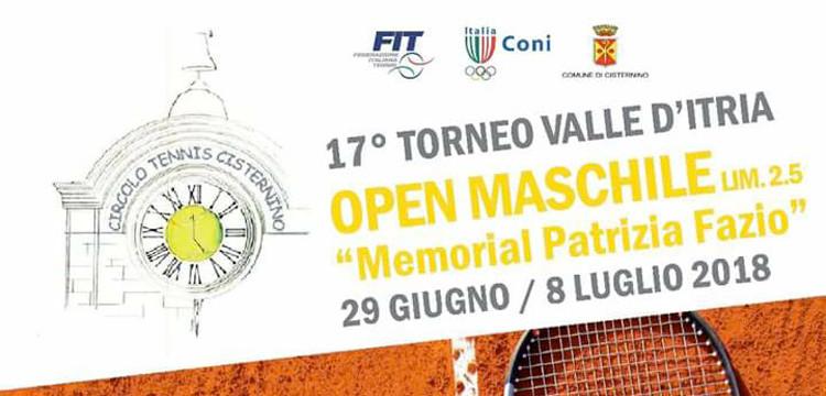 """Tennis: a Cisternino il 5° Memorial """"Patrizia Fazio"""""""