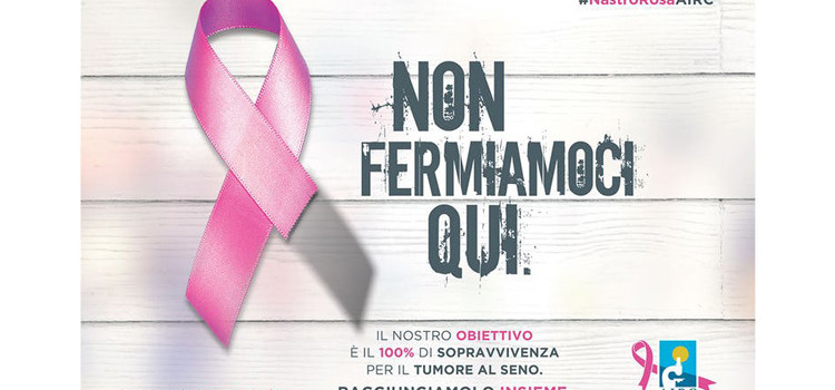 Un nastro rosa per sostenere la lotta contro il tumore al seno
