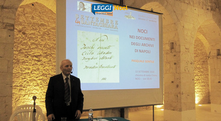 Noci nei documenti degli archivi di Napoli, inaugurata la 17^ edizione di Settembre in Santa Chiara