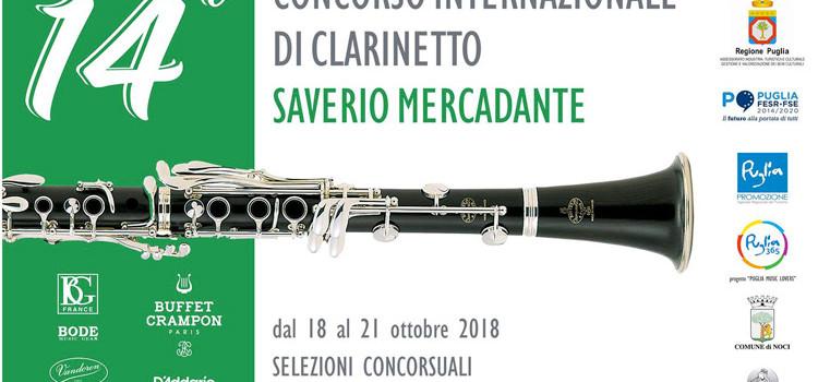"""""""Saverio Mercadante"""": tutti gli eventi legati al concorso internazionale di clarinetto"""