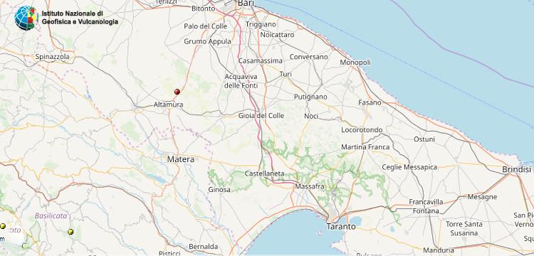Terremoto ad Altamura: Protezione Civile, nessun danno