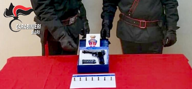 Nasconde una pistola in casa, arrestato dai Carabinieri un 37enne