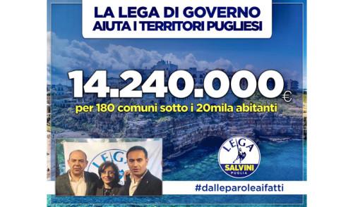 Angelo Dalena della Lega comunica l'invio di risorse dal Ministero ai Comuni