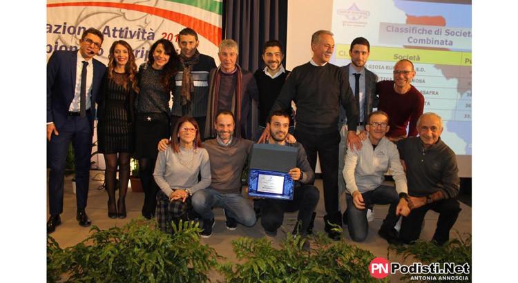 Montedoro premiata alla cerimonia ufficiale della Fidal Puglia
