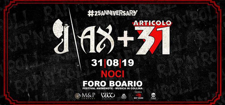 J-ax + Articolo 31 in concerto il 31 agosto a Noci