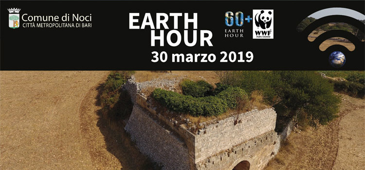 EARTH HOUR #Connect2Earth – 30 Marzo 2019 Noci
