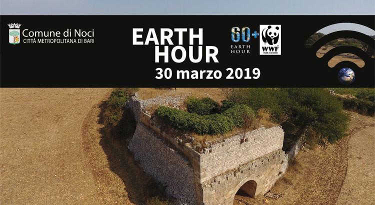Il Comune di Noci aderisce all'Earth Hour 2019