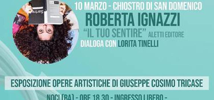 """Roberta Ignazzi presenta il libro """"Il tuo sentire"""""""