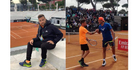 Tennis: il nocese Garzelli si allena a Roma con i più forti giocatori del mondo