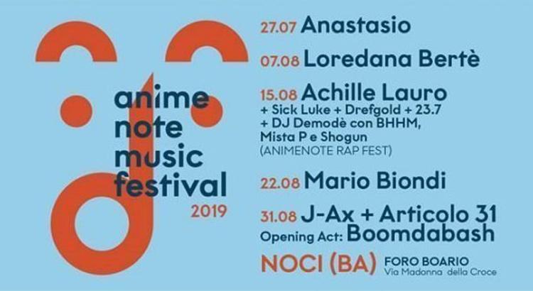 """Anime Note"": a Noci J-ax, Anastasio, Loredana Bertè, Achille Lauro e Mario Biondi"