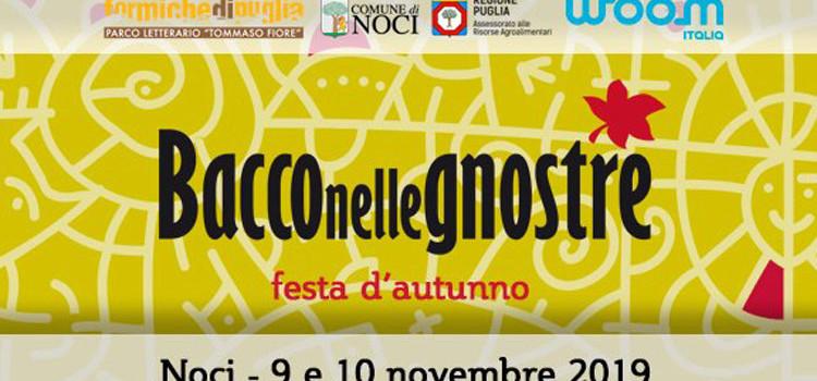 Bacco nelle Gnostre il 9 e il 10 novembre sostenuta da Woom Italia Srl