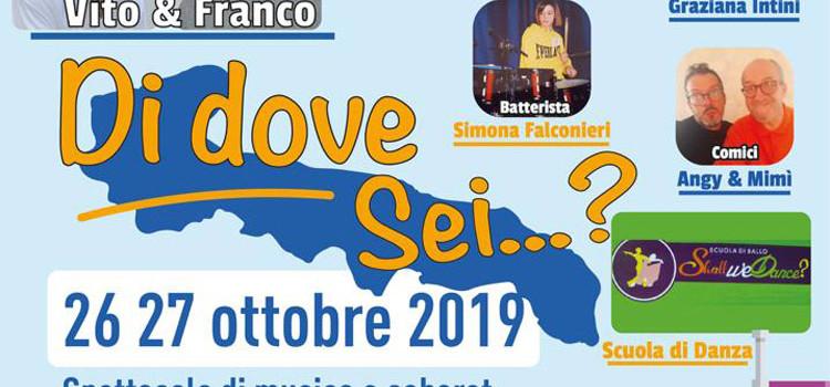 """""""Di dove sei?"""": musica e cabaret questo weekend al Teatro Gabrieli"""