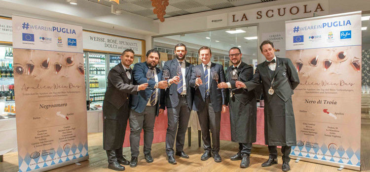 I sommelier di Noci dell'AIS Puglia a Monaco di Baviera per il primo Apulien Wine Day