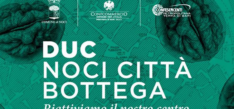 """Distretto Urbano del Commercio """"Noci Città Bottega"""": pubblicato l'Avviso pubblico per quanti volessero aderire all'Associazione"""