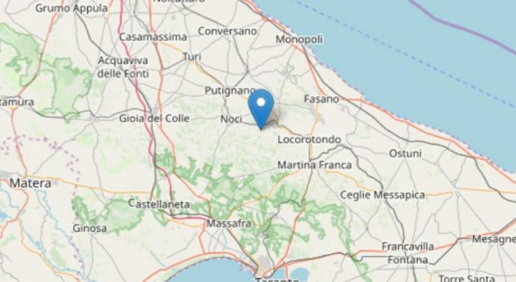 Sisma in Puglia: trema Alberobello, percepito anche a Noci