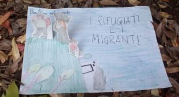 """""""I rifugiati e migranti"""": il disegno vincitore del piccolo nocese Gabriele"""