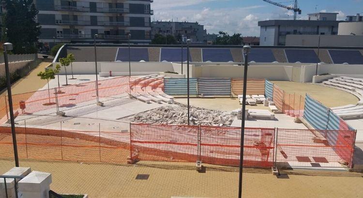 Lavori di ripristino all'ex piscina comunale
