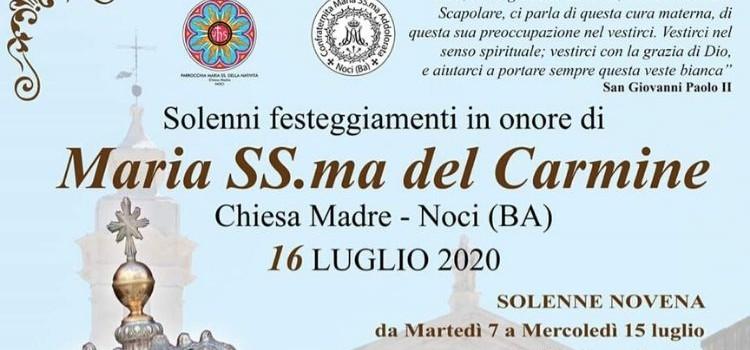 Maria SS.ma del Carmine: il calendario dei festeggiamenti