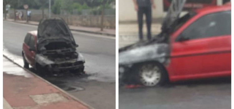 Noci: auto in fiamme in paese
