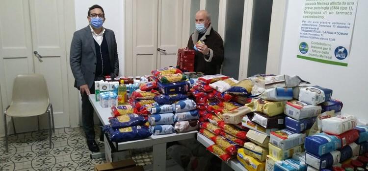 Direzione Italia dona alimenti alle famiglie nocesi disagiate