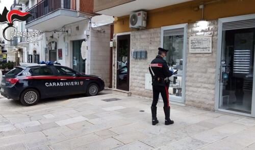 Modugno: rubano in un negozio e fuggono. I Carabinieri arrestano una donna e denunciano la complice