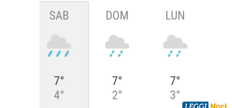 Fine settimana all'insegna di pioggia, freddo e vento