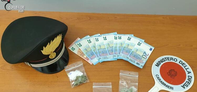 Turi: arrestati dai carabinieri per spaccio di droga