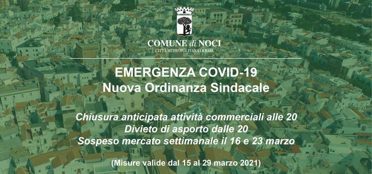 Emergenza Coronavirus: arriva l'Ordinanza Sindacale