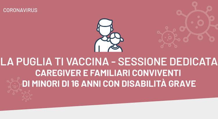 A Pasqua e Pasquetta vaccinazioni dedicate a caregiver di minori di 16 anni con disabilità grave