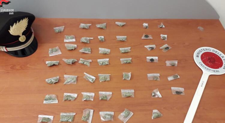 Turi: droga a domicilio. Arrestato per spaccio nell'abitazione di un giovane ai domiciliari per lo stesso reato