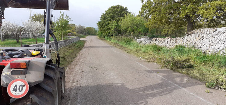Strade extraurbane: al via la ripulitura delle banchine nell'agro