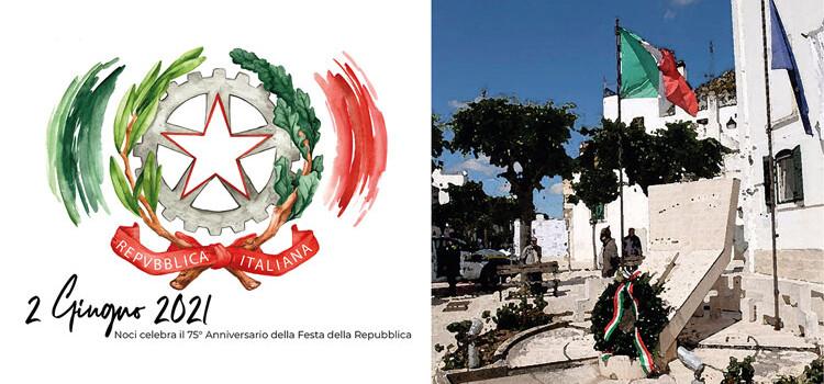 Il 2 giugno Noci celebra il 75° Anniversario della Festa della Repubblica