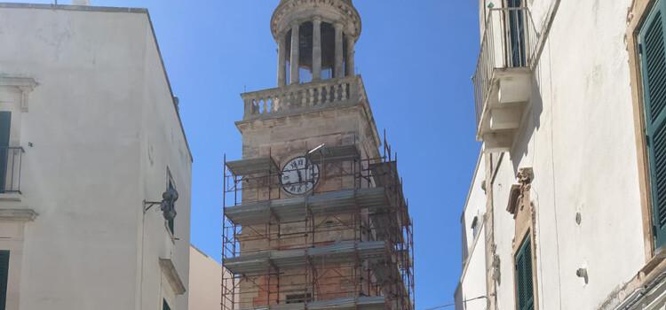 Al via i lavori di restauro della Torre Civica di Noci