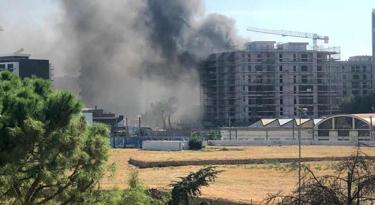 Incendio in un cantiere barese: illesi operai nocesi